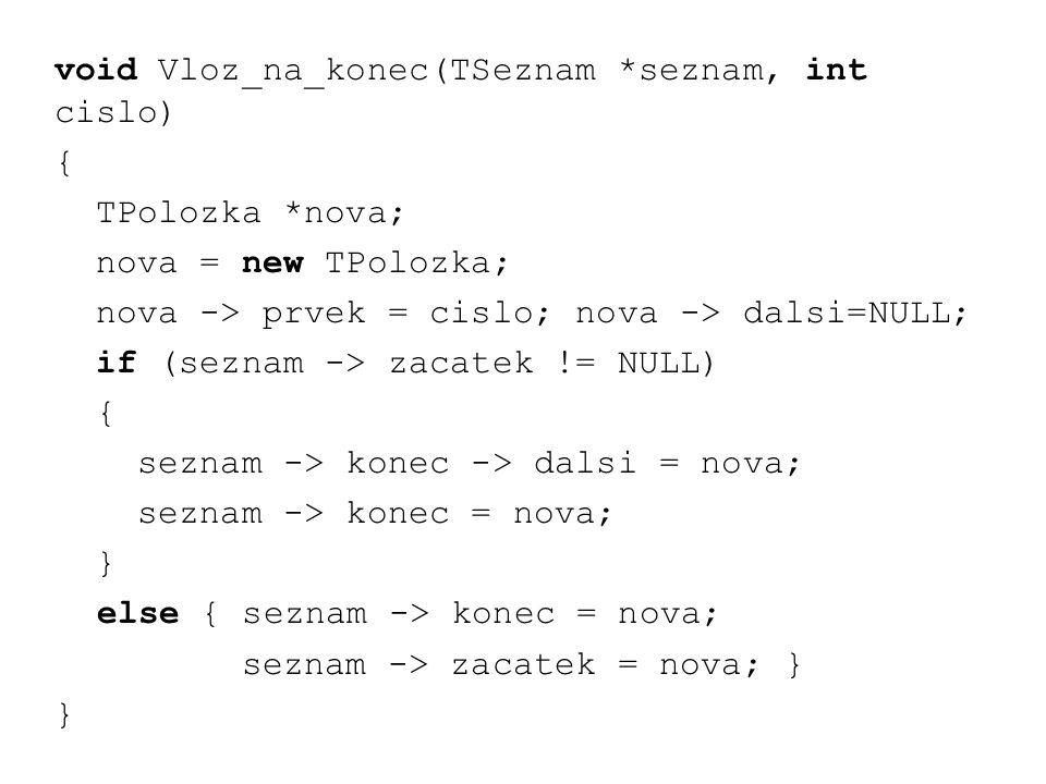 void Vloz_na_konec(TSeznam *seznam, int cislo)