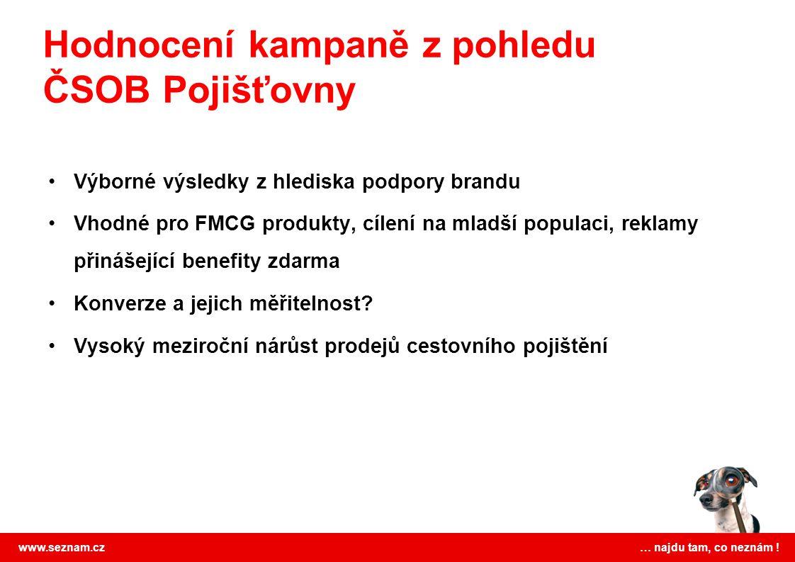 Hodnocení kampaně z pohledu ČSOB Pojišťovny