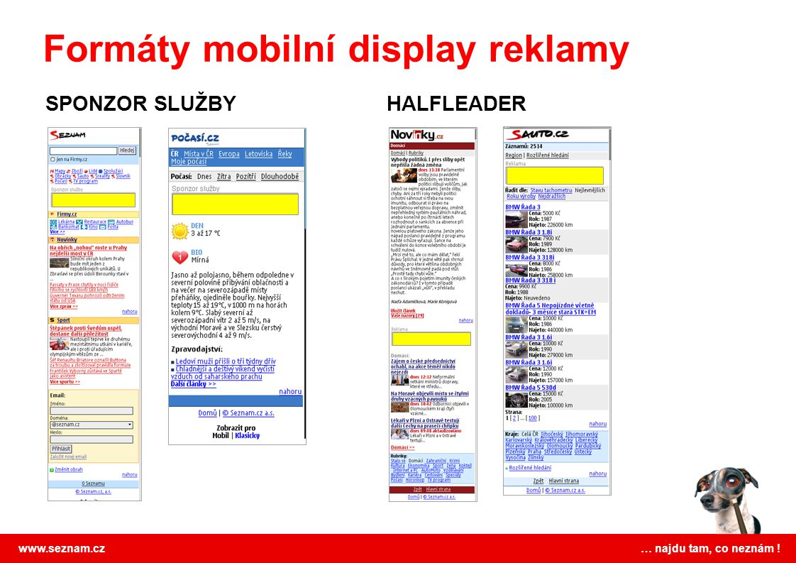 Formáty mobilní display reklamy