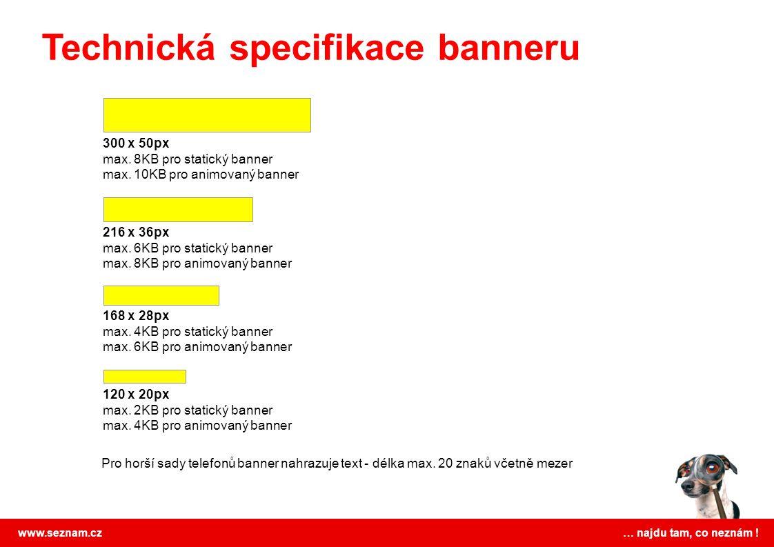 Technická specifikace banneru