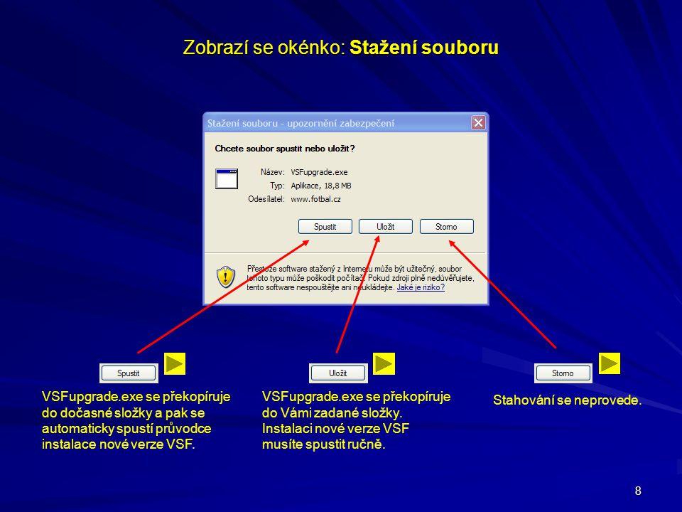 Zobrazí se okénko: Stažení souboru