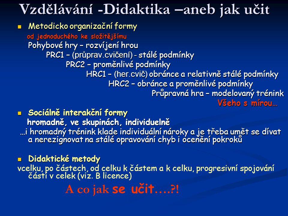 Vzdělávání -Didaktika –aneb jak učit
