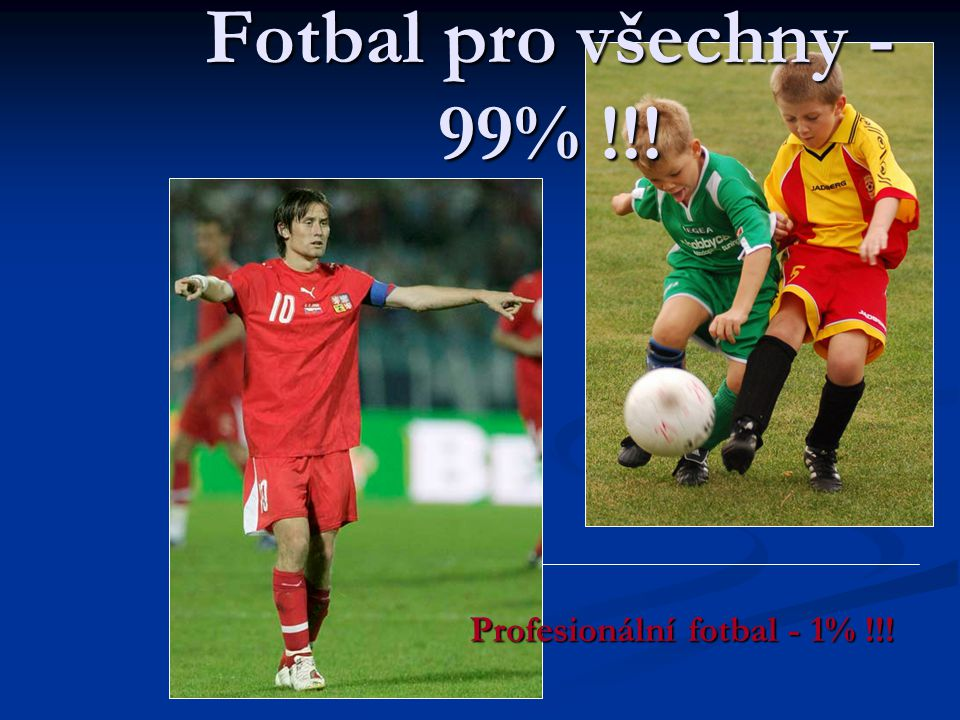 Profesionální fotbal - 1% !!!