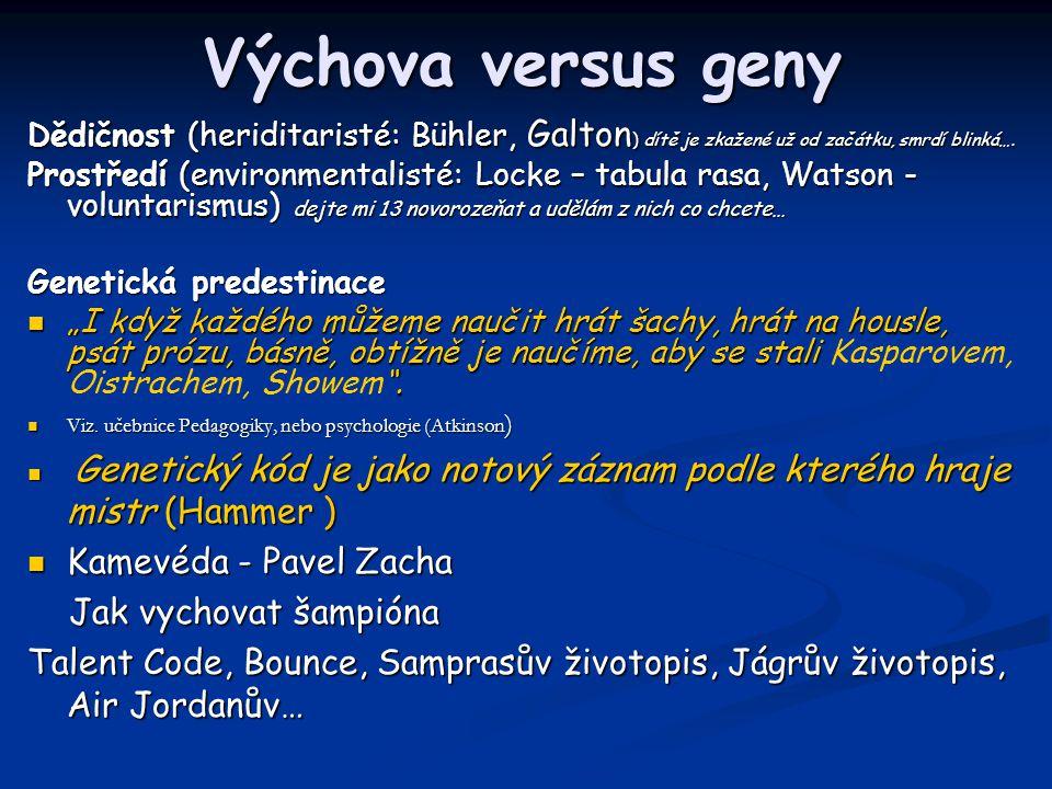 Výchova versus geny Kamevéda - Pavel Zacha Jak vychovat šampióna