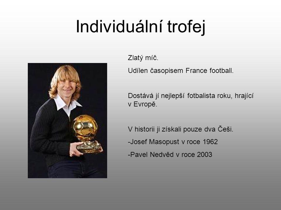 Individuální trofej Zlatý míč. Udílen časopisem France football.