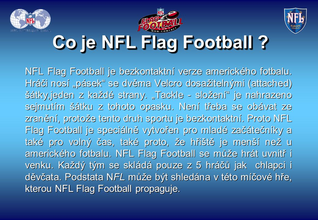 Co je NFL Flag Football