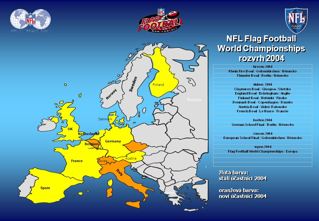 NFL Flag Football World Championships rozvrh 2004