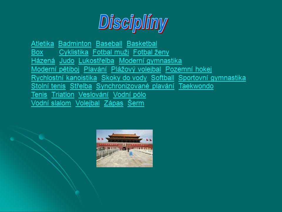 Disciplíny Atletika Badminton Baseball Basketbal