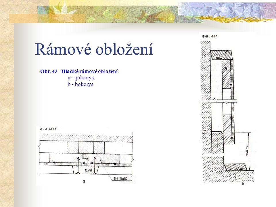 Rámové obložení Obr. 43 Hladké rámové obložení a – půdorys,