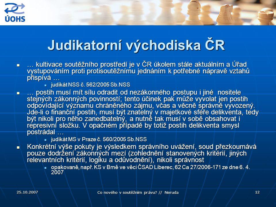Judikatorní východiska ČR
