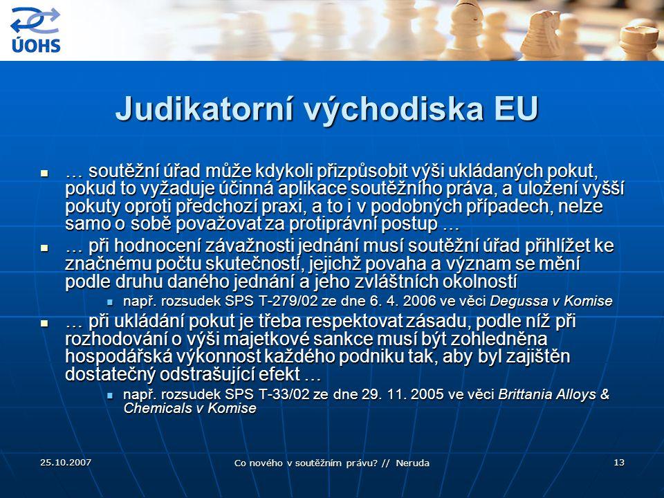 Judikatorní východiska EU