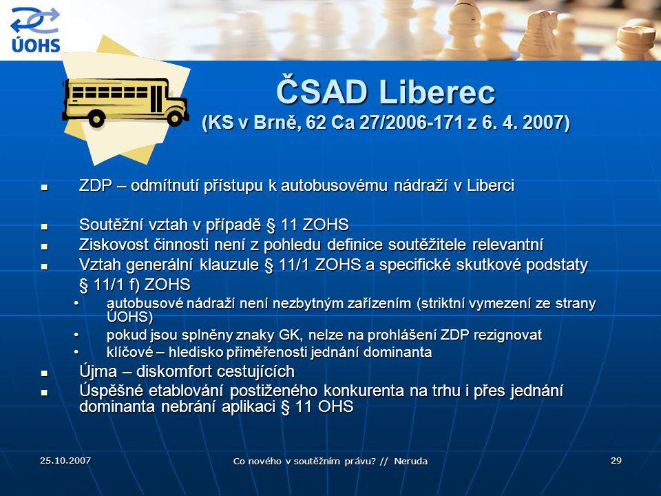 ČSAD Liberec (KS v Brně, 62 Ca 27/2006-171 z 6. 4. 2007)
