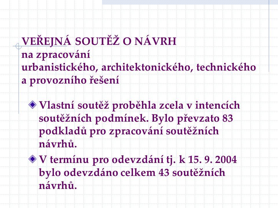 VEŘEJNÁ SOUTĚŽ O NÁVRH na zpracování urbanistického, architektonického, technického a provozního řešení