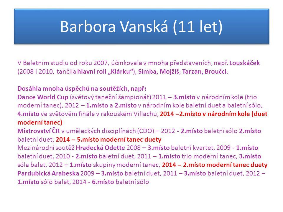 Barbora Vanská (11 let)