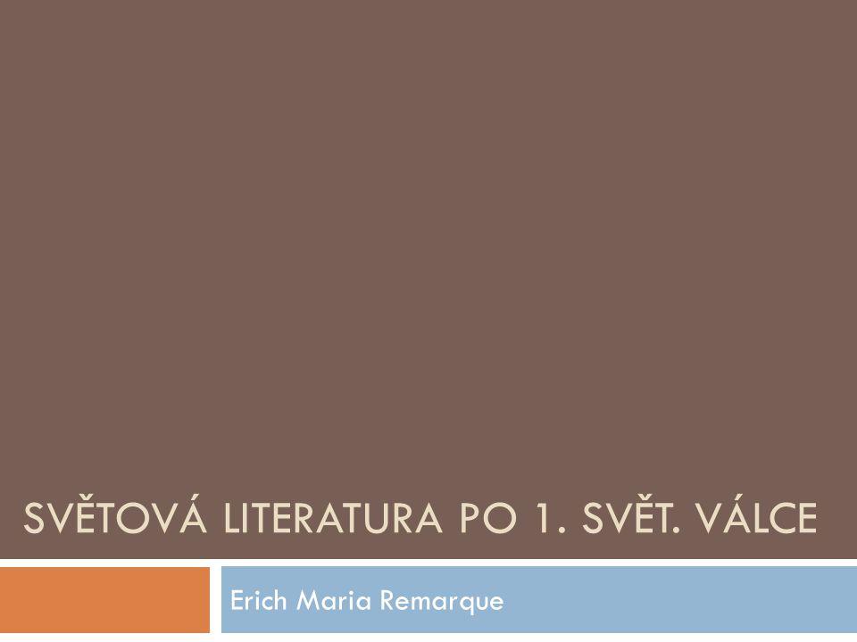 Světová literatura po 1. svět. válce