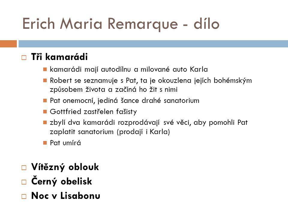 Erich Maria Remarque - dílo