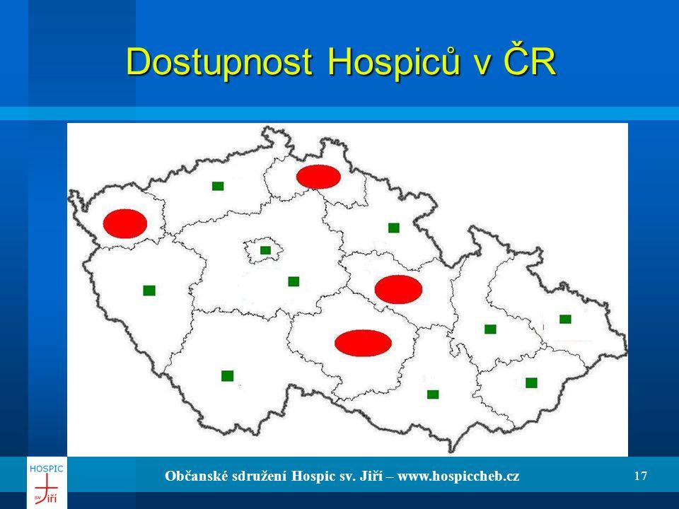 Dostupnost Hospiců v ČR