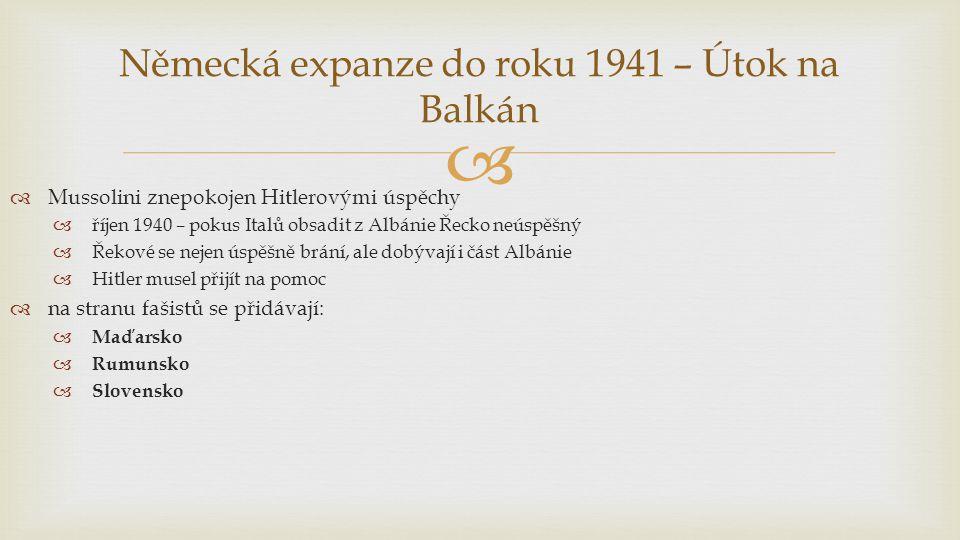 Německá expanze do roku 1941 – Útok na Balkán