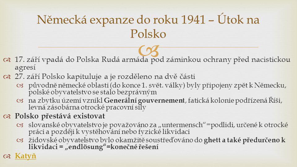 Německá expanze do roku 1941 – Útok na Polsko