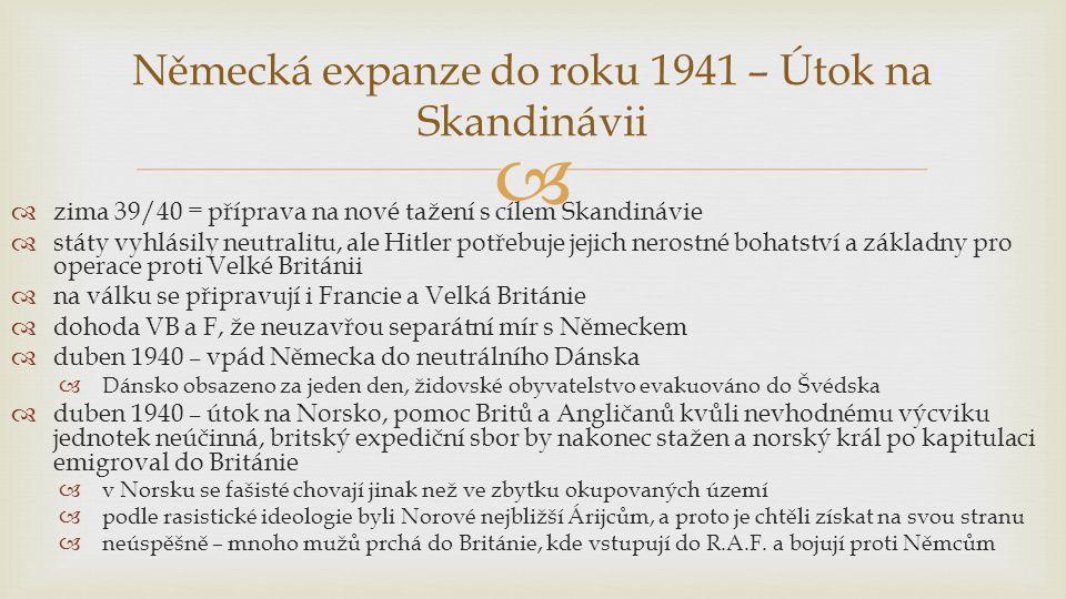 Německá expanze do roku 1941 – Útok na Skandinávii