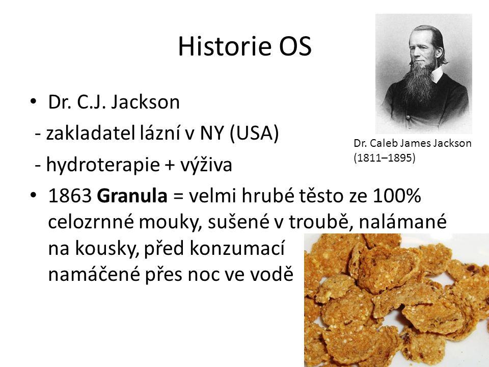 Historie OS Dr. C.J. Jackson - zakladatel lázní v NY (USA)