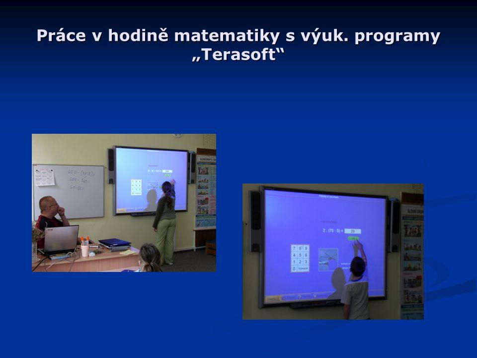 """Práce v hodině matematiky s výuk. programy """"Terasoft"""