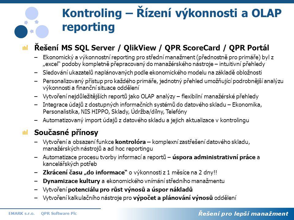 Kontroling – Řízení výkonnosti a OLAP reporting