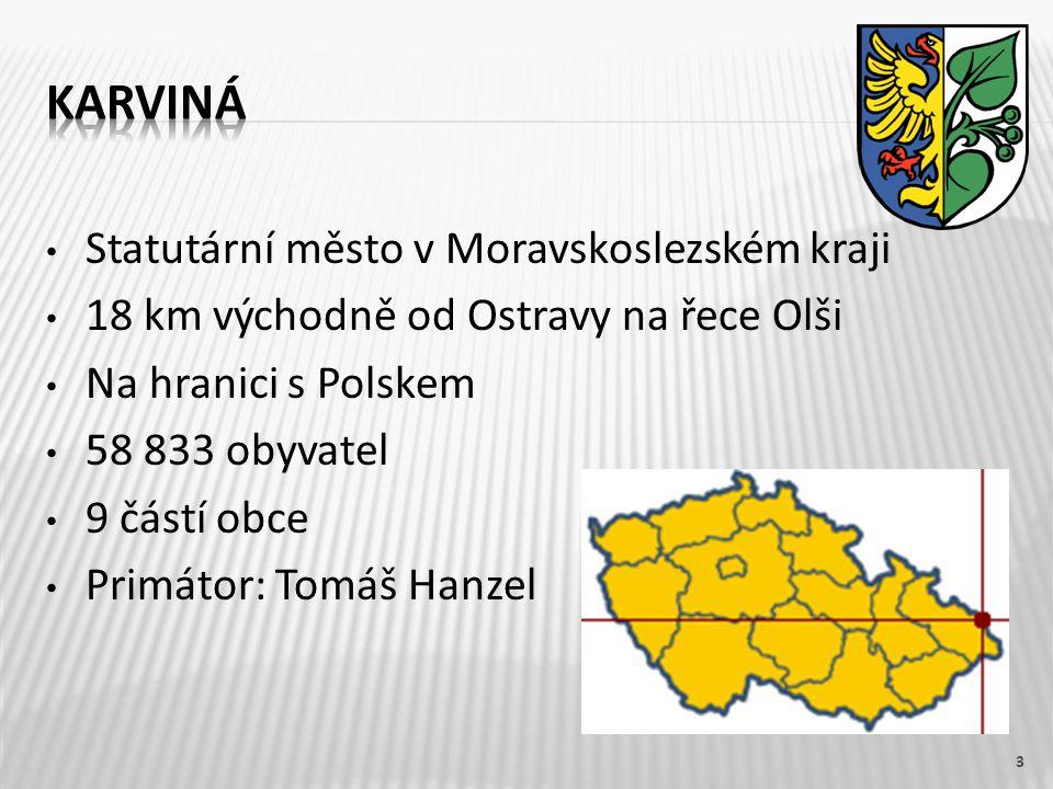 Karviná Statutární město v Moravskoslezském kraji