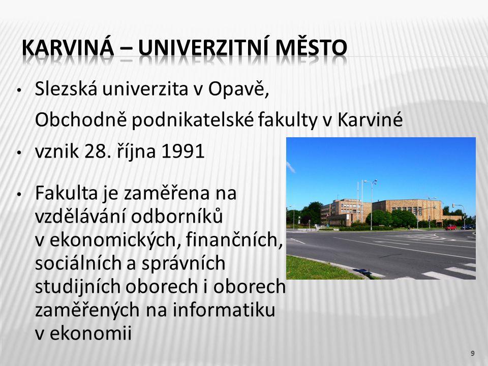 Karviná – univerzitní město