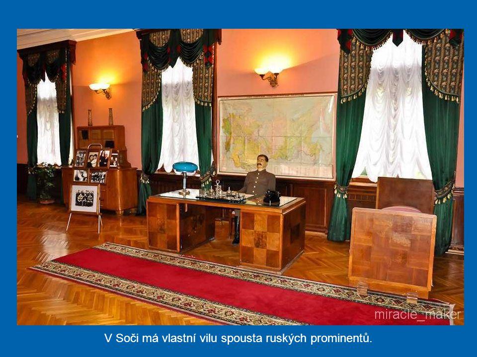 V Soči má vlastní vilu spousta ruských prominentů.