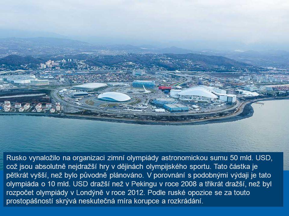 Rusko vynaložilo na organizaci zimní olympiády astronomickou sumu 50 mld.