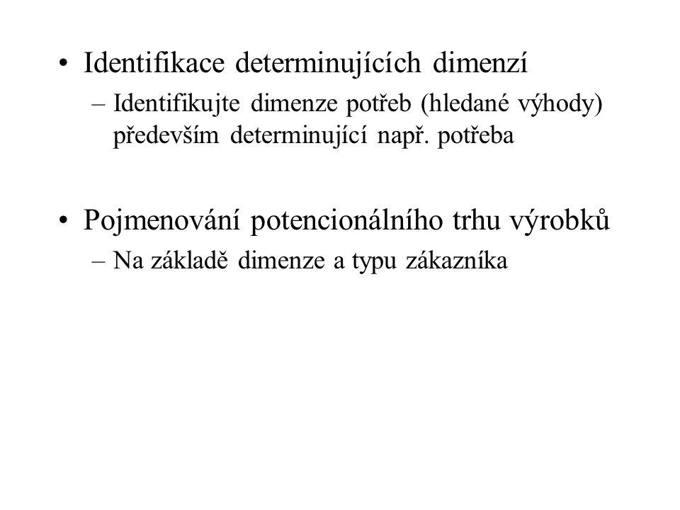 Identifikace determinujících dimenzí