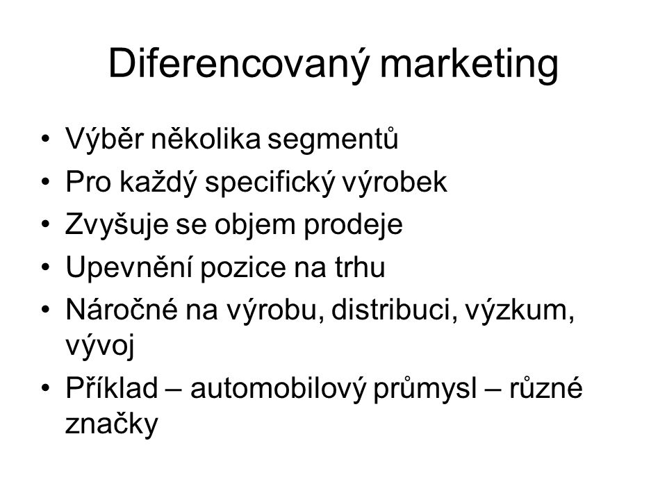 Diferencovaný marketing