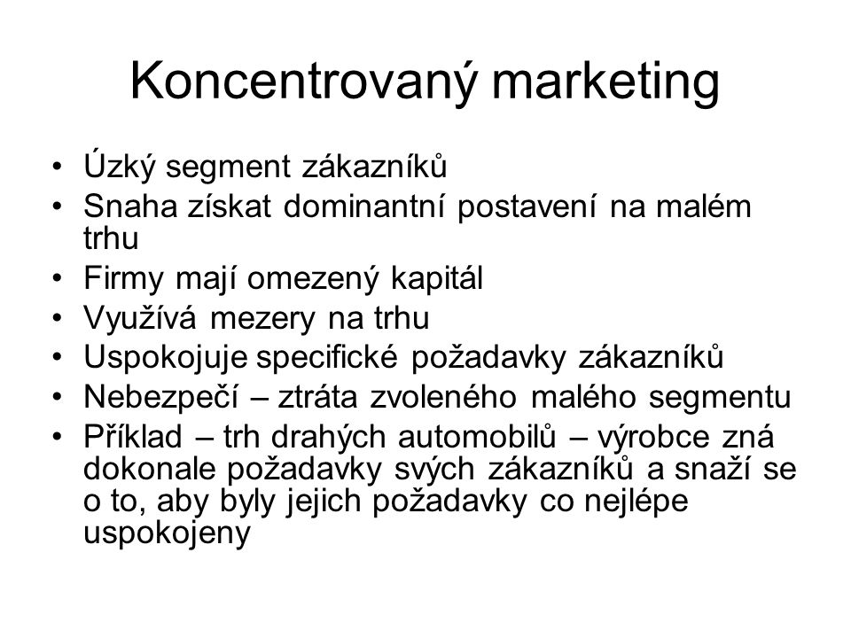 Koncentrovaný marketing