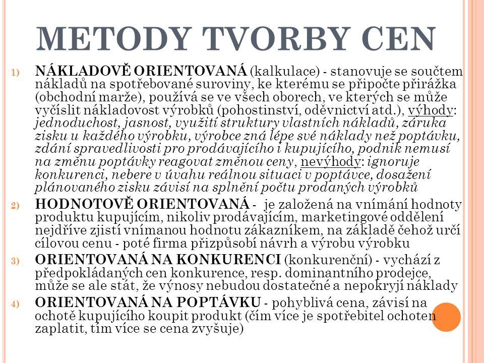 METODY TVORBY CEN