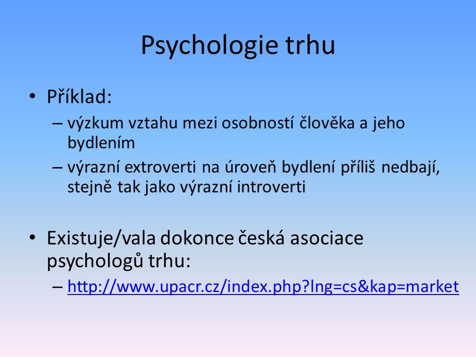 Psychologie trhu Příklad:
