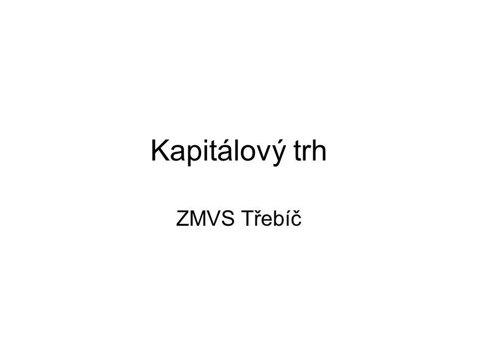 Kapitálový trh ZMVS Třebíč