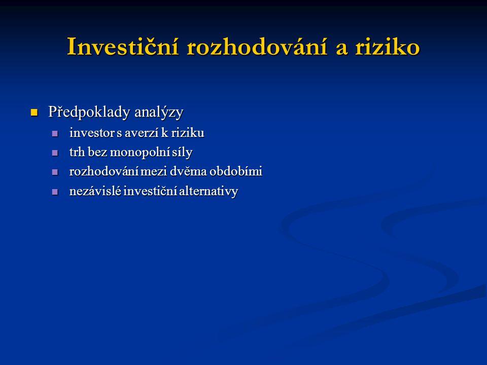 Investiční rozhodování a riziko