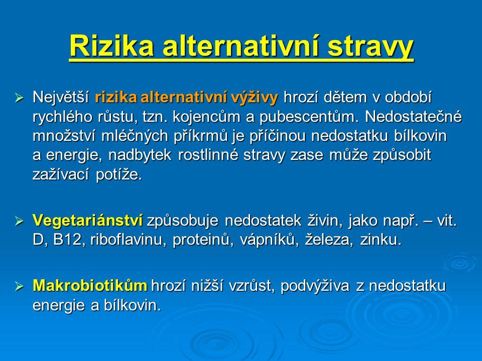 Rizika alternativní stravy