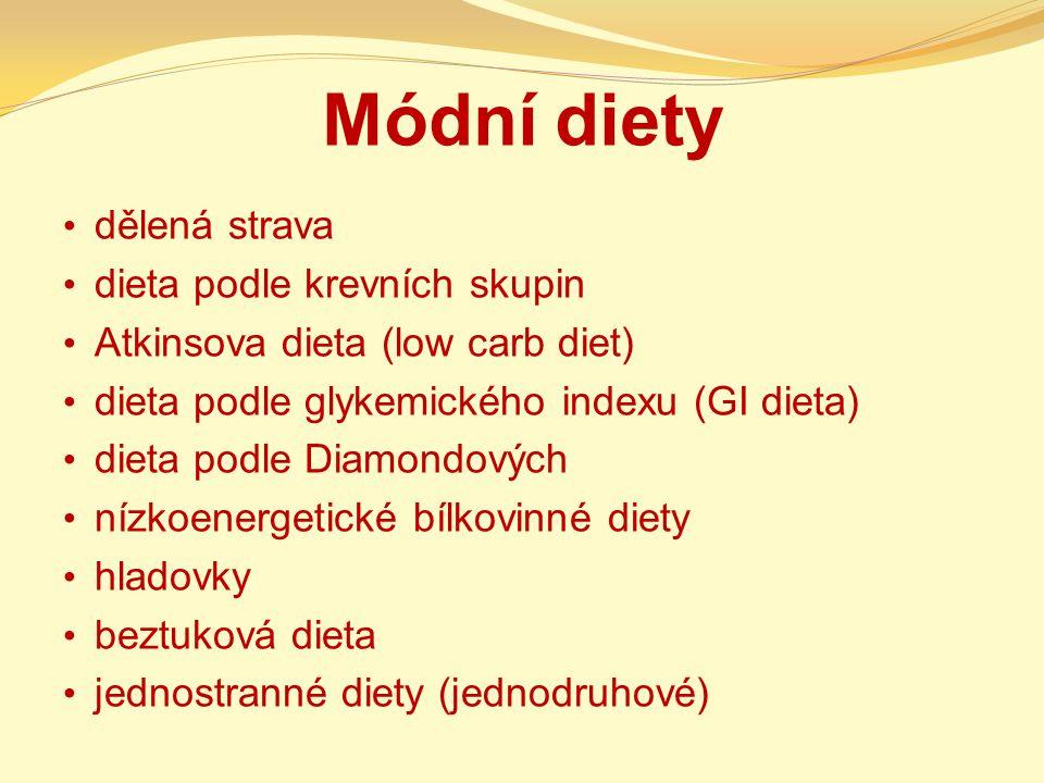 Módní diety dělená strava dieta podle krevních skupin