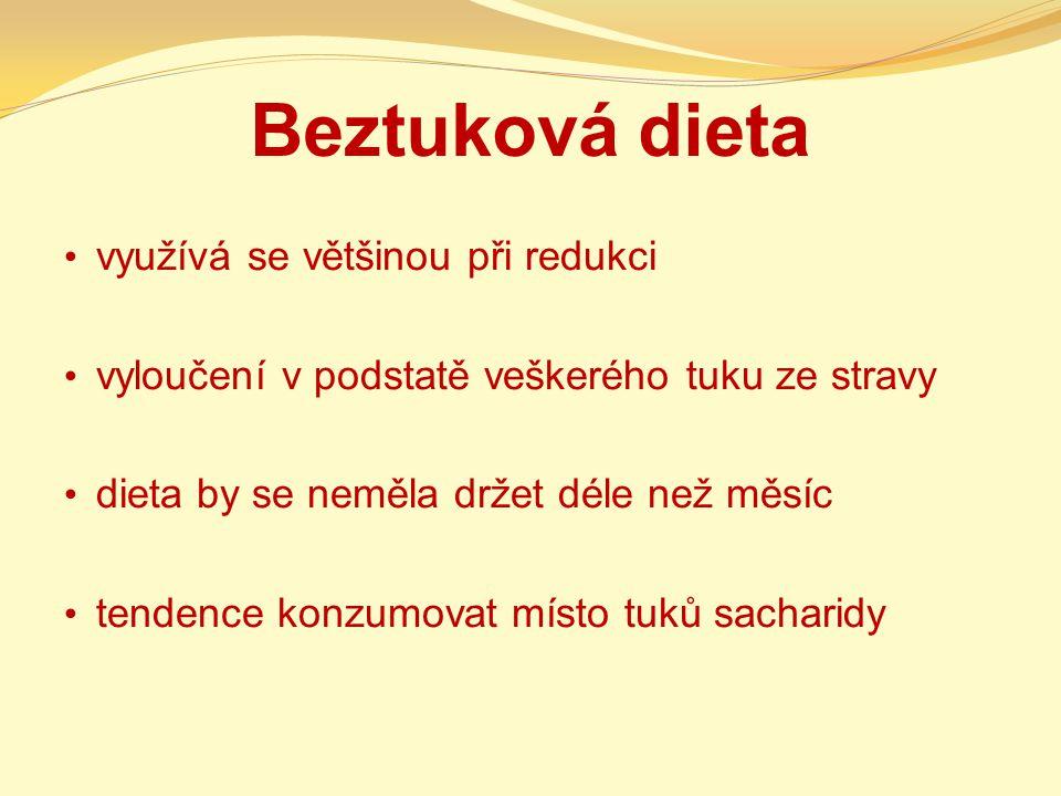 Beztuková dieta využívá se většinou při redukci
