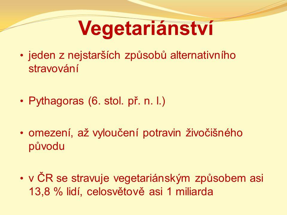 Vegetariánství jeden z nejstarších způsobů alternativního stravování