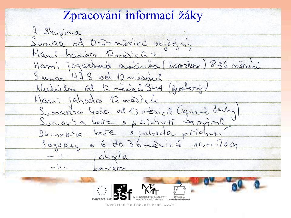 Zpracování informací žáky