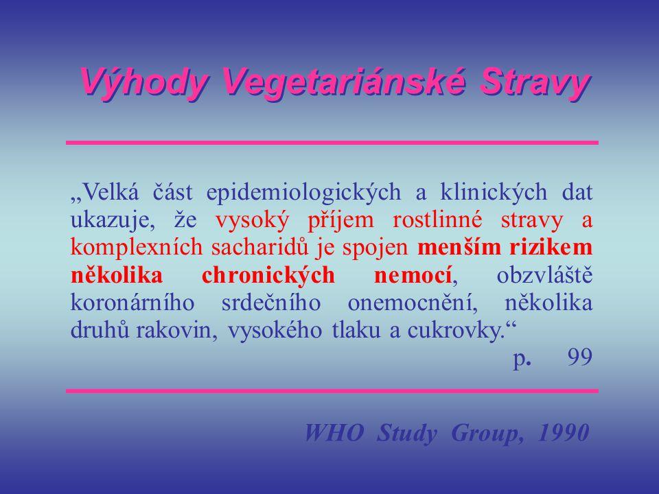 Výhody Vegetariánské Stravy