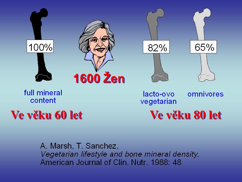 1600 Žen Ve věku 60 let Ve věku 80 let