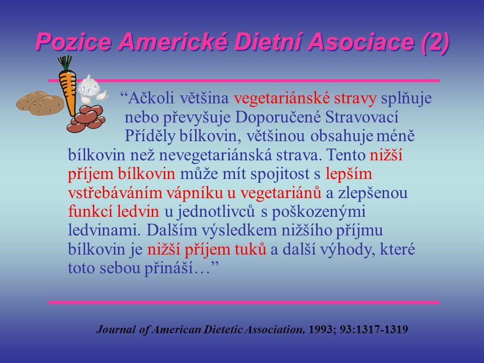 Pozice Americké Dietní Asociace (2)