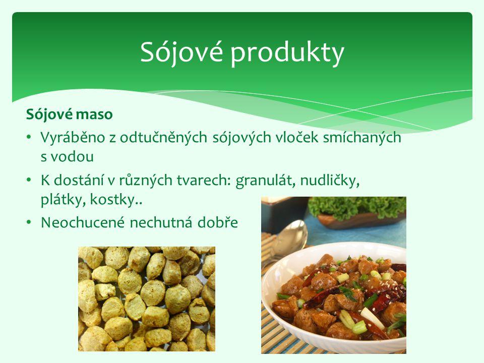 Sójové produkty Sójové maso