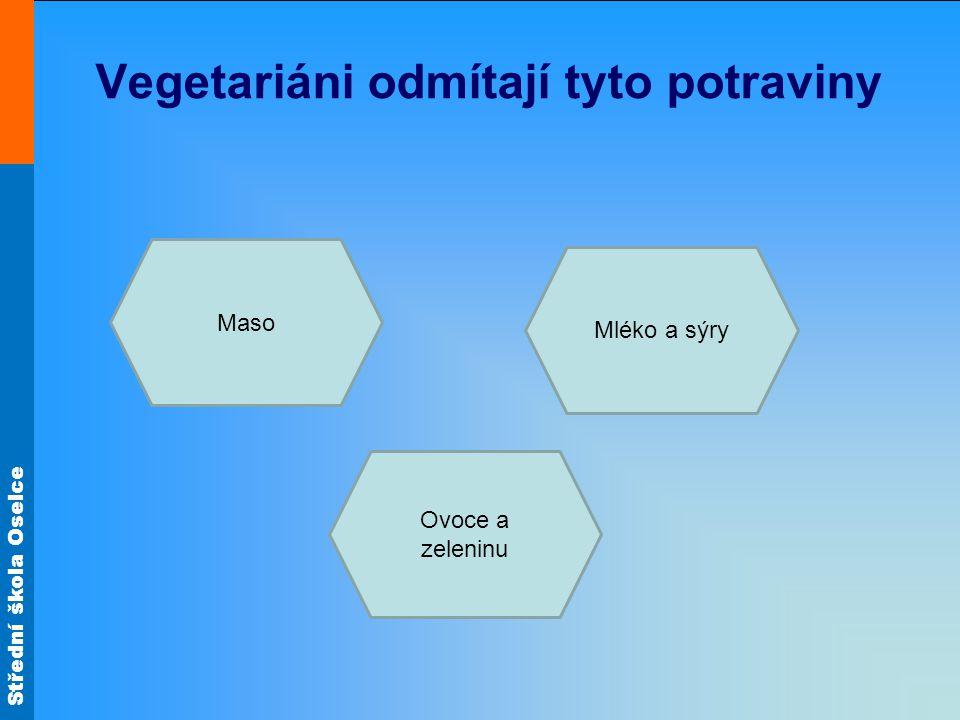 Vegetariáni odmítají tyto potraviny