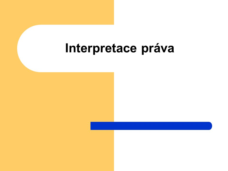 Interpretace práva