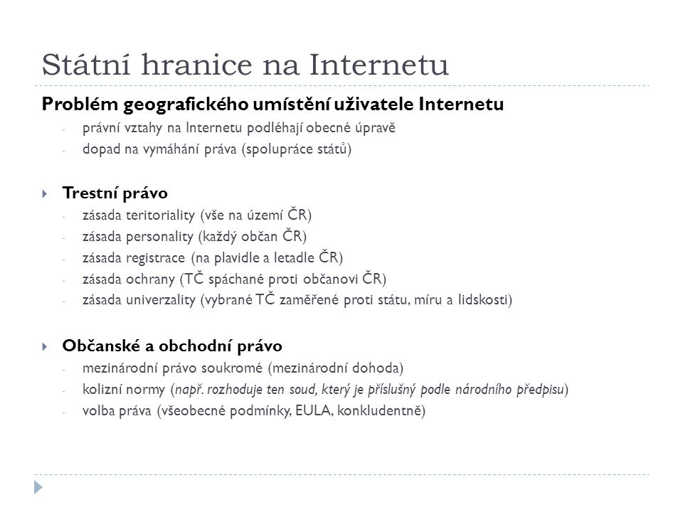 Státní hranice na Internetu